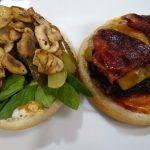 Celine's home made bacon cheeseburgersburgers