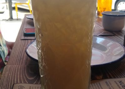 Niña Colada - a mocktail drink made from coconut milk and pineapple