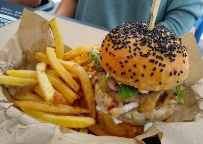 Chicken burger at Burger Shapers Club