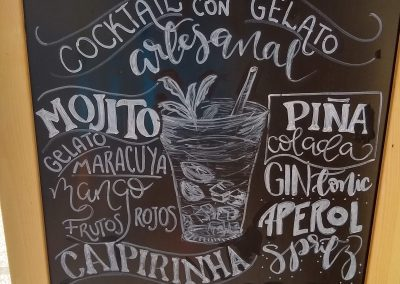 GelatoInk Cocktails sandwich board