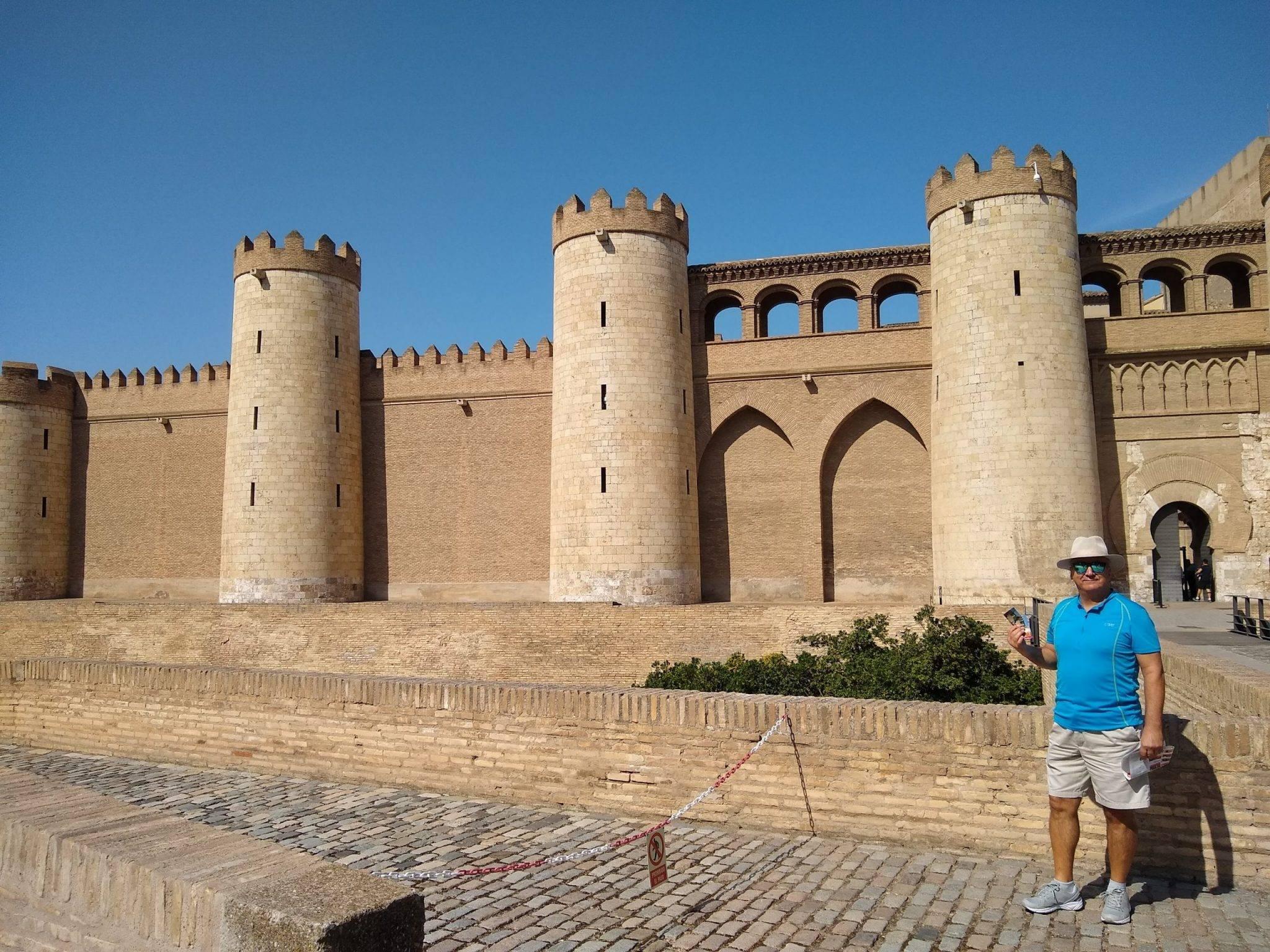Outside Aljafería Palace