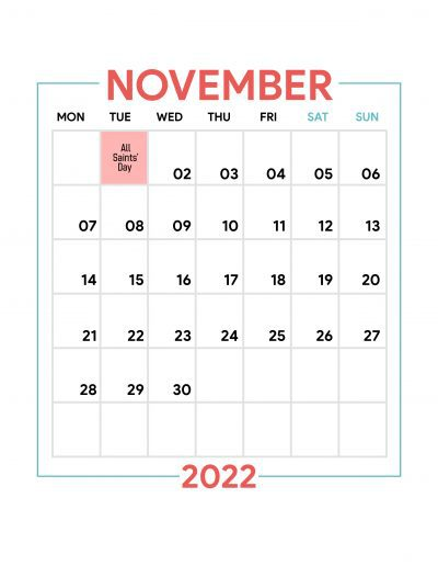 Holidays Observed in Spain - November 2022