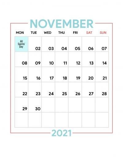 Holidays Observed in Spain - November 2021